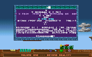 Early screenshot of Xargon port, showing some graphical corruption which has now been fixed.